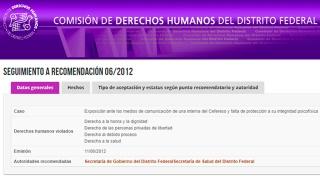 Cumplimiento de la Recomendación 06/2012